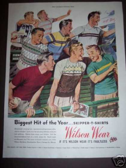 Wilson Mens Wear Baseball Game Retro (1949)
