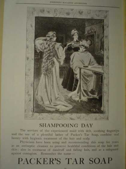 Packer's Tar Soap Shampooing Day (1896)