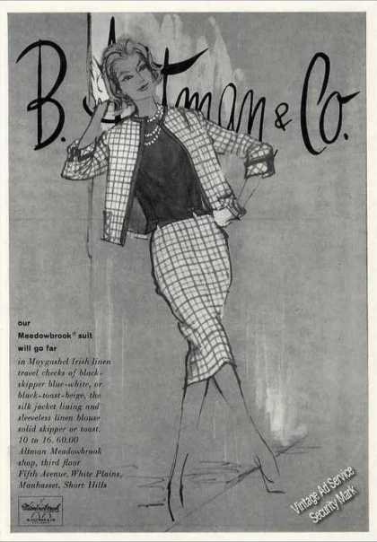 B. Altman & Co Female Fashion Art Collectible (1960)