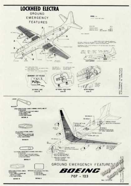 Lockheed Electra/boeing 707 Ground Emergency Drwgs (1959)