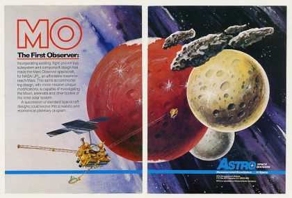 RCA Astro Mars Observer Spacecraft 2-Page (1987)