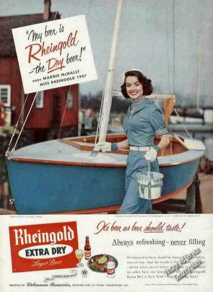 Margie Mcnally Miss Rheingold Painting Sailboat (1957)
