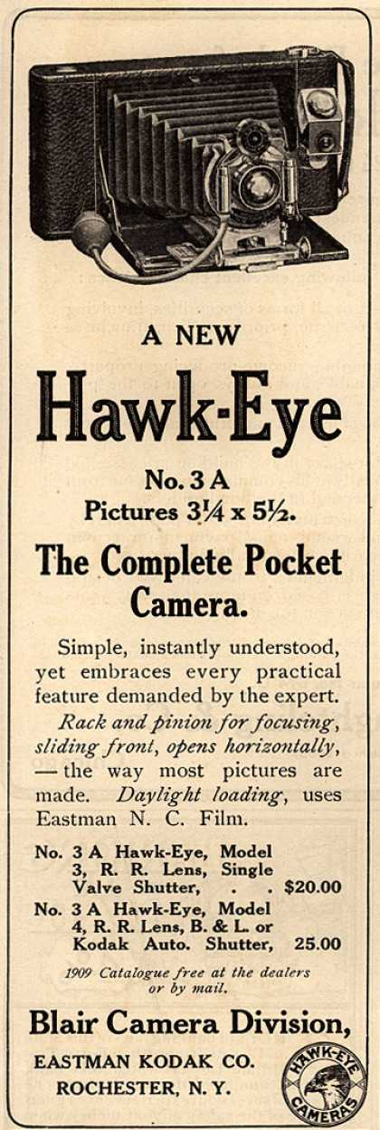 Kodak's Hawk-Eye camera – A New Hawk-Eye The Complete Pocket Camera. (1909)