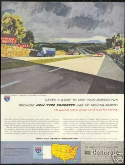 Pennsylvania Interstate 78 Portland Cement Art (1960)