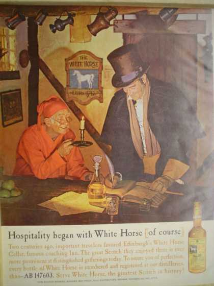 White Horse Scotch Hospitality began with White House (1961)