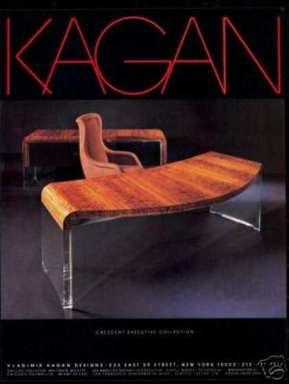 Vladimir Kagan Furniture Desk Photo (1982)