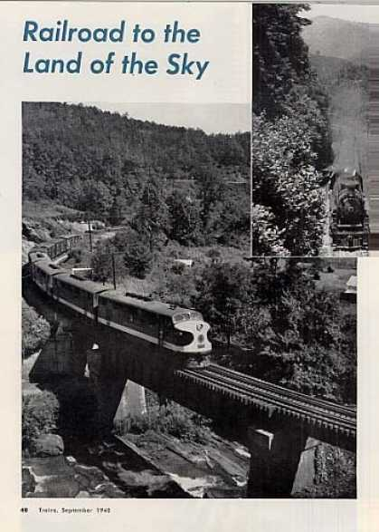 """Railroad To the Land of the Sky"" Article/sou (1948)"