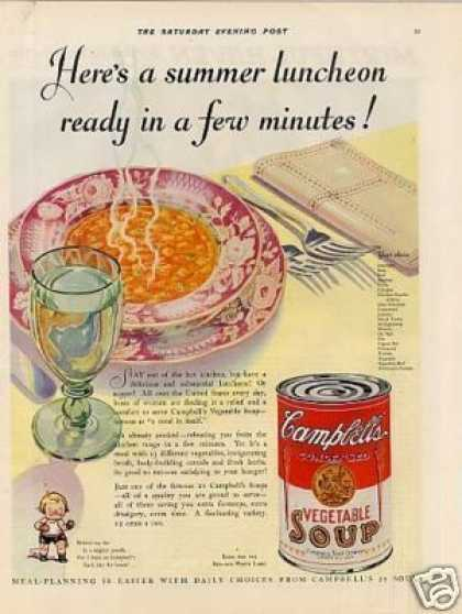 Campbell's Vegetable Soup (1930)