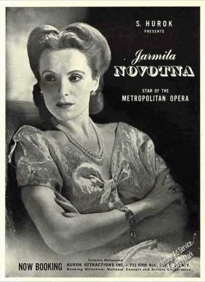 Jarmila Novotna Photo Metropolitan Opera Star (1944)