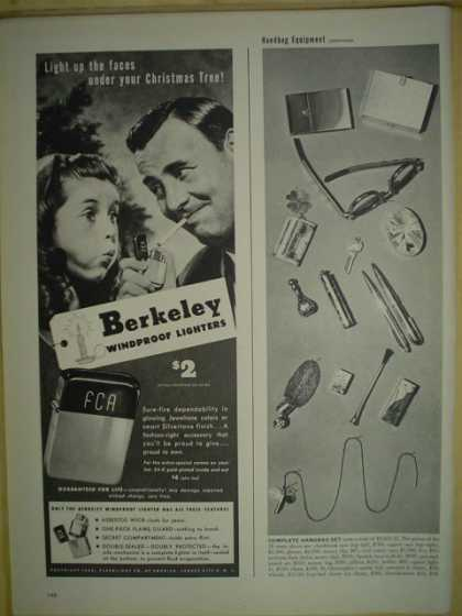 Berkeley windproof lighter. Light up the faces (1946)
