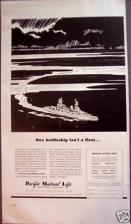 Pacific Mutual Life Insurance Ship at Sea (1942)