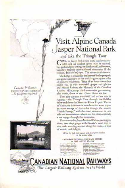 Canadian National Railways – Jasper National Park (1924)
