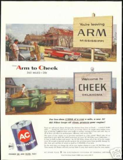 Arm Mississippi Cheek Oklahoma AC Oil Filter (1958)