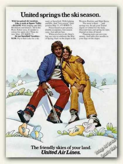United Springs the Ski Season Airlines (1973)
