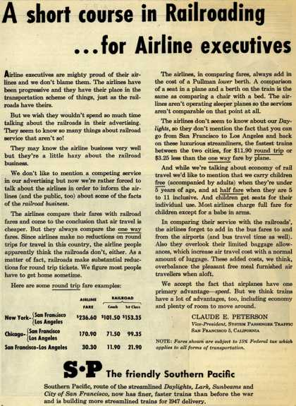 Southern Pacific – A short course in Railroading... for Airline executives (1946)