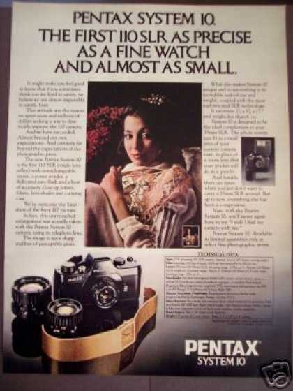 Pentax System 10 110 Slr Camera & Lenses Photo (1979)