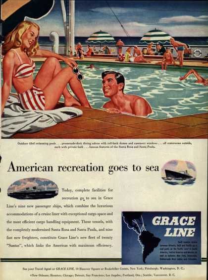 Grace Line – American recreation goes to sea (1947)