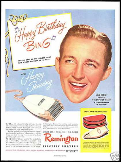 Bing Crosby Photo Remington Electric Shaver (1948)