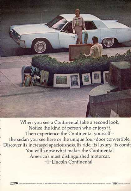 Lincoln Continental Suicide Doors Print (1964)