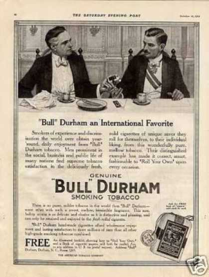 Bull Durham Smoking Tobacco (1914)
