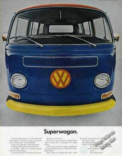 Vw Volkswagen Station Wagon Superwagon Color (1968)
