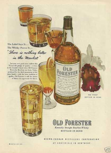 Old Forester Kentucky Bourbon Whiskey (1948)
