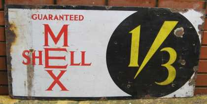 Shell Mex 1/3 petrol Sign