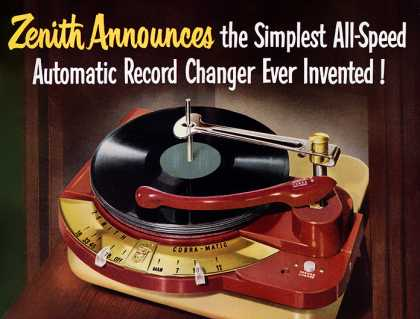 Zenith Cobra-Matic record changer (1950)