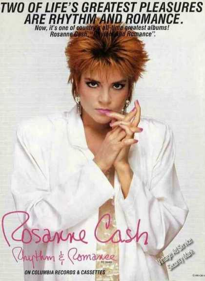 "Nice Rosanne Cash Photo ""Rhythm & Romance"" (1985)"