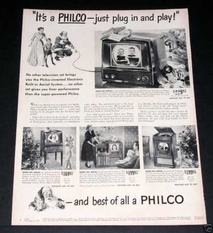 Philco Tv, Plug & Play, Xmas (1949)