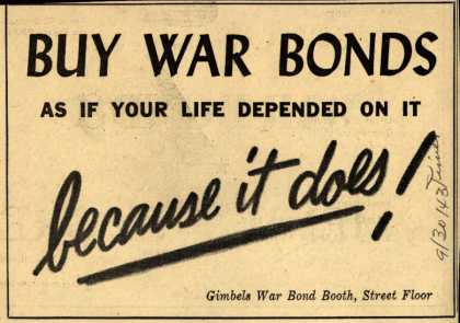 Gimbel&#8217;s War Bonds &#8211; Buy War Bonds (1943)