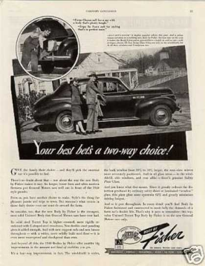 Body By Fisher Car Ad Buick (1940)