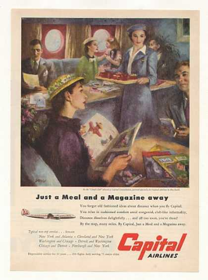 Capital Airlines Cloud Club Ben Stahl art (1951)