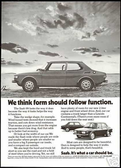 Saab 99 2 & 4 Door Car Photo Vintage (1973)