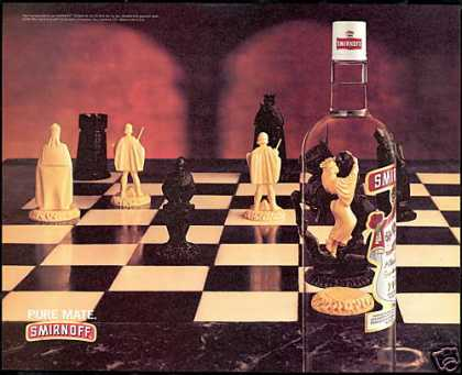 Smirnoff Vodka Chess Board Game Pieces Photo (1997)