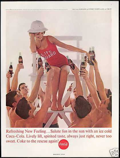 Coke Pretty Lifeguard Coca Cola (1963)