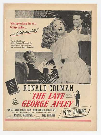 R Colman P Cummins The Late George Apley Movie (1947)