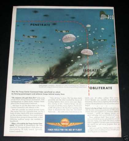 Shell Oil, Wartime Paratroops (1944)