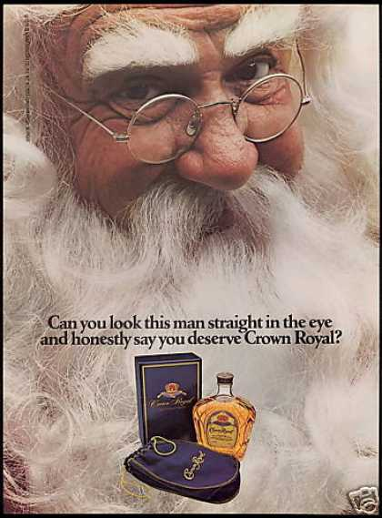 Christmas Santa Seagram's Crown Royal (1983)