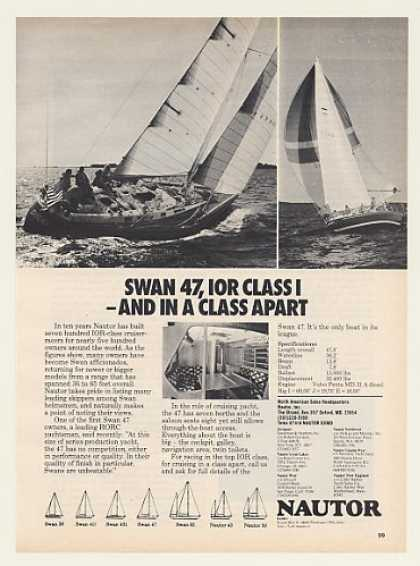 Nautor Swan 47 Sailboat Yacht Boat Photo (1977)