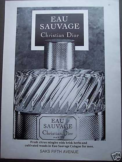 Eau Sauvage Christian Dior Cologne for Men (1980)