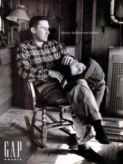 GAP – Mickey Spillane – He wore khakis (1994)