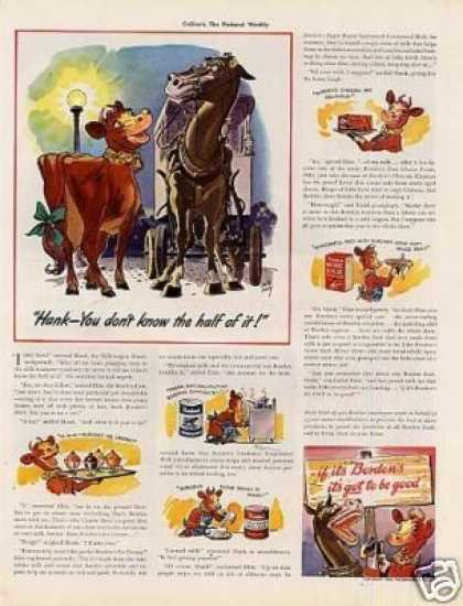 Borden&#8217;s Ad &quot;Hank You Don&#8217;t Know... (1939)