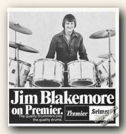 Jim Blakemore Photo Premier Selmer Drums (1978)