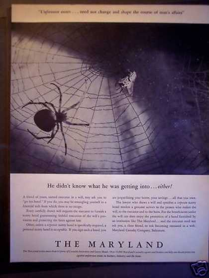 Maryland Casualty Co. Bonds Spider Web (1940)
