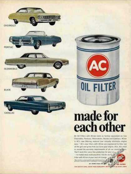 Gm Car (all 5) Photos Ac Oil Filter (1967)