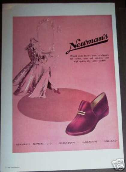 Newman's Slippers Ltd Fashion Trade Ad England (1949)