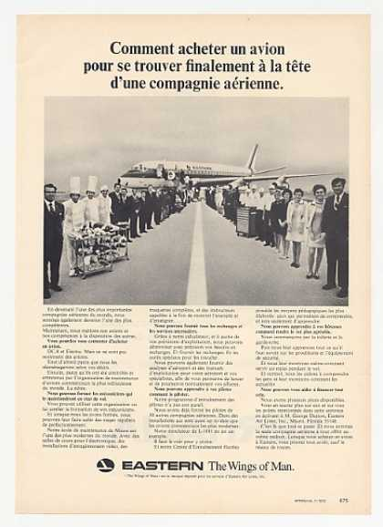 Eastern Airlines Crew & DC-8 Photo French (1972)