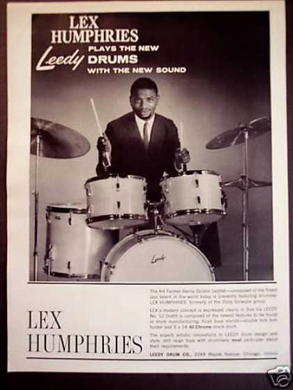 Drummer Lex Humphries Photo Leedy Drums (1960)