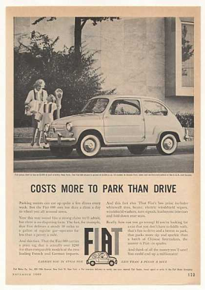 Fiat 600 Costs More to Park Than Drive Photo (1960)